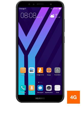 Huawei Y6 2018 noir - vue 1