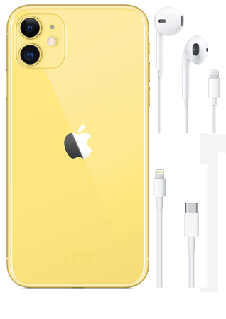 Apple iPhone 11 Jaune 128 Go