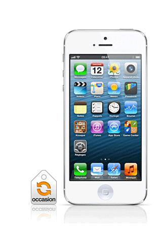 d96378378492 Apple iPhone 5 16Go blanc   argenté occasion, iOS6, Écran rétina 4 ...