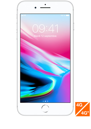 iPhone 8 Plus argent - vue 1