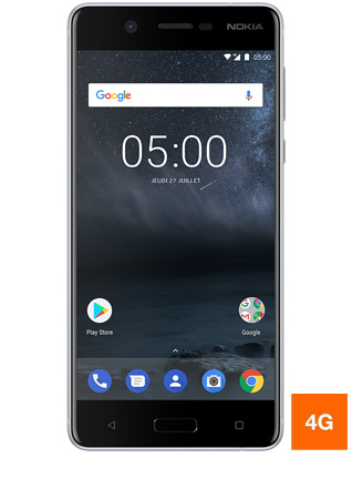Nokia 5 argent - vue 1 bis