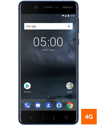 Nokia 5 bleu - vue 1 bis