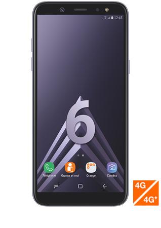 Samsung Galaxy A6 argent - vue 1