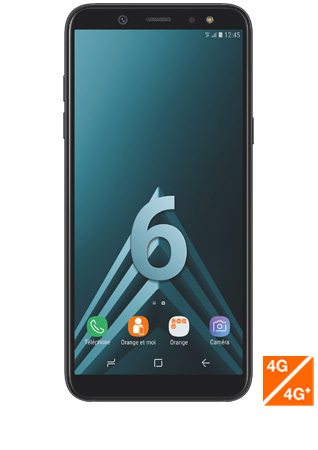 Samsung Galaxy A6 noir - vue 1