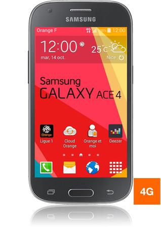 Samsung Galaxy Ace 4 noir vue 1