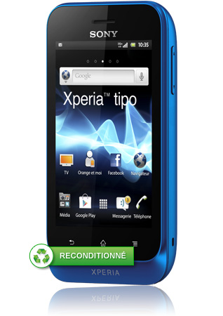 sony xperia tipo bleu reconditionn android 3g orange mobile. Black Bedroom Furniture Sets. Home Design Ideas
