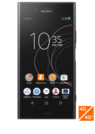Sony Xperia XZ1 noir - Vue 1