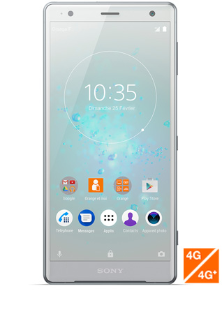 Sony Xperia XZ2 argent - vue 1