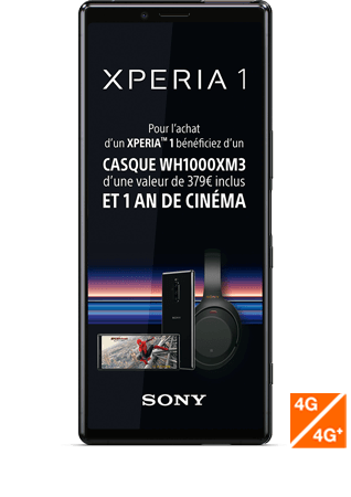 vue 1 - Sony Xperia 1 noir