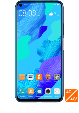 vue 1- Huawei nova 5T Bleu