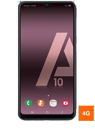 vue 1 Samsung Galaxy A10 noir