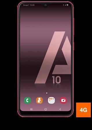 vue 1 Samsung Galaxy A10 rouge