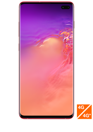vue 1 Samsung Galaxy S10 plus rouge