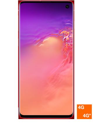 vue 1 Samsung Galaxy S10 rouge
