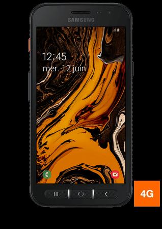 vue 1 Samsung Galaxy X cover 4S noir