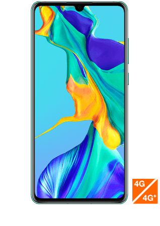 vue1 - Huawei P30 bleu aurore