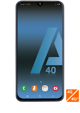 vue1 - Samsung Galaxy A40 blanc