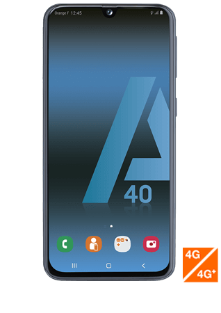 vue1 - Samsung Galaxy A40 noir
