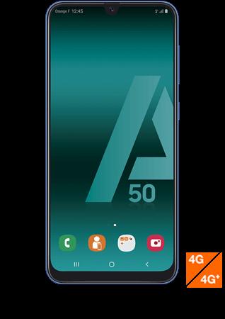 vue1 - Samsung Galaxy A50 bleu
