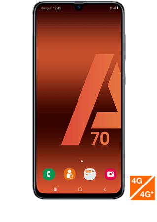 Vue1 - Samsung Galaxy A70 blanc