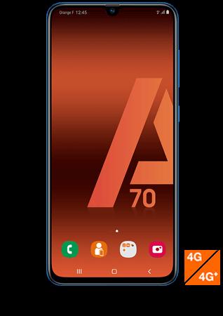 Vue1 - Samsung Galaxy A70 bleu