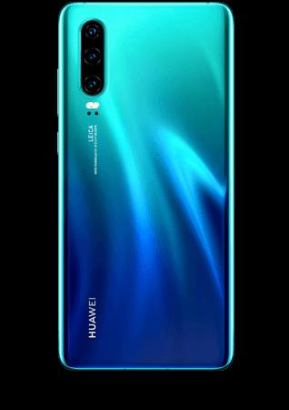 Huawei P30 bleu aurore