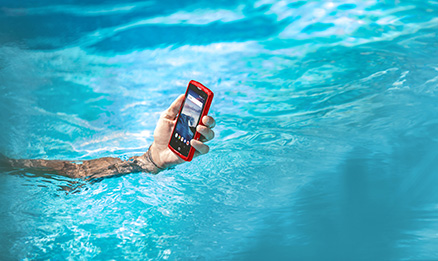 la piscine bleu rouge waterproof