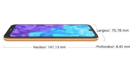 Huawei Y5 2019 ecran dimension petit prix