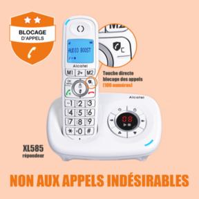 Blocage d'appels Alcatel 585