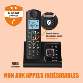 Blocage d'appels Alcatel 685