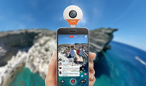 Camera 360 ORANGE Live Cam zig zag 2
