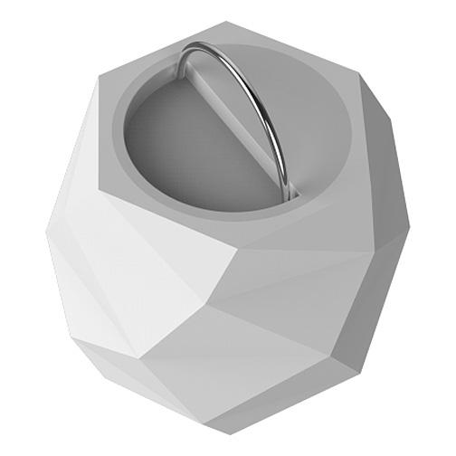 lampe enceinte prisme sphere blanche bluetooth colorblock. Black Bedroom Furniture Sets. Home Design Ideas