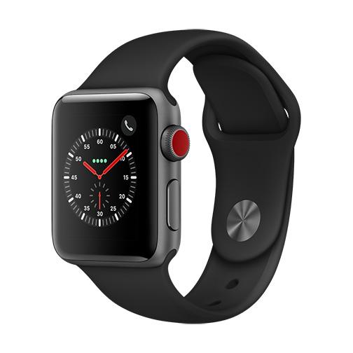 apple watch serie 3 4g bo tier 38 mm aluminium gris. Black Bedroom Furniture Sets. Home Design Ideas