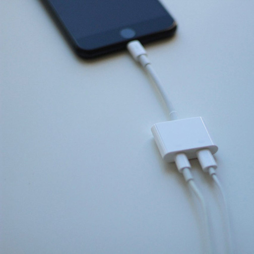 adaptateur lightning rockstar audio et recharge pour iphone 7 et iphonne 7 plus orange. Black Bedroom Furniture Sets. Home Design Ideas