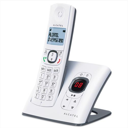 e8b616bd549e80 Téléphone fixe sans fil avec répondeur Alcatel F580 - Orange