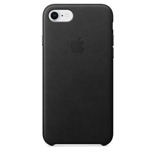 coque cuir apple pour iphone 7 8 noire orange prix avis caract ristiques. Black Bedroom Furniture Sets. Home Design Ideas
