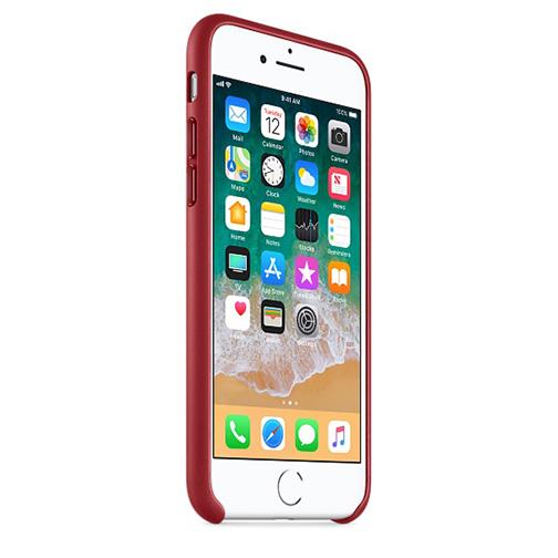 coque cuir apple pour iphone 7 8 rouge orange prix avis caract ristiques. Black Bedroom Furniture Sets. Home Design Ideas