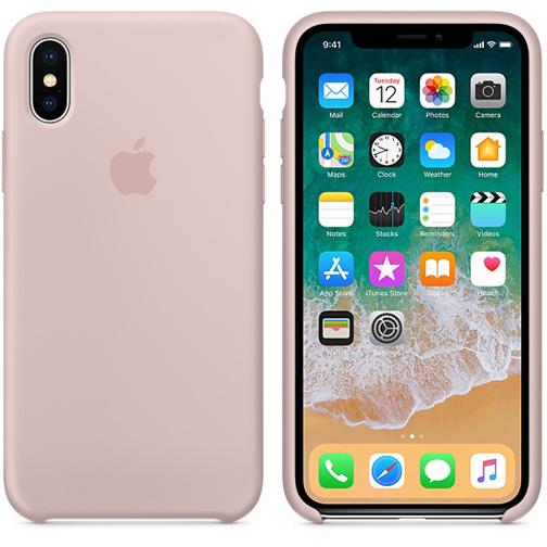 coque silicone apple pour iphone x rose des sables orange prix avis caract ristiques. Black Bedroom Furniture Sets. Home Design Ideas