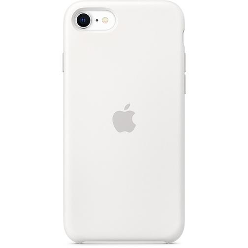 Coque en silicone Apple pour iPhone SE Blanc
