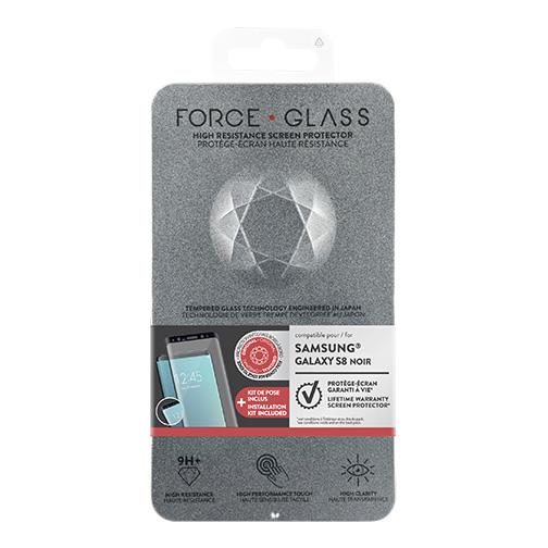 film de protection force glass pour samsung galaxy s8 orange. Black Bedroom Furniture Sets. Home Design Ideas