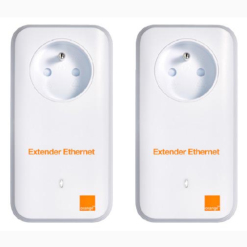 prise extender ethernet raccord r seau lectrique prix avis orange. Black Bedroom Furniture Sets. Home Design Ideas