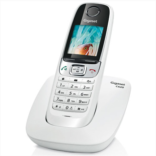 Téléphone Fixe Sans Fil Gigaset C620 Duo Orange