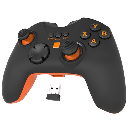 manette de jeu pour livebox et pc avis prix caract ristiques orange. Black Bedroom Furniture Sets. Home Design Ideas