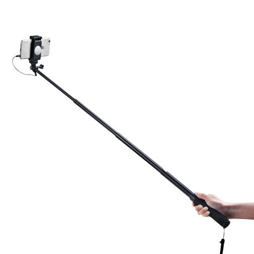 Perche selfie filaire noir orange for Perche selfie boulanger