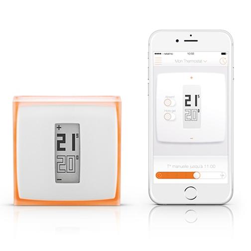 thermostat netatmo orange. Black Bedroom Furniture Sets. Home Design Ideas