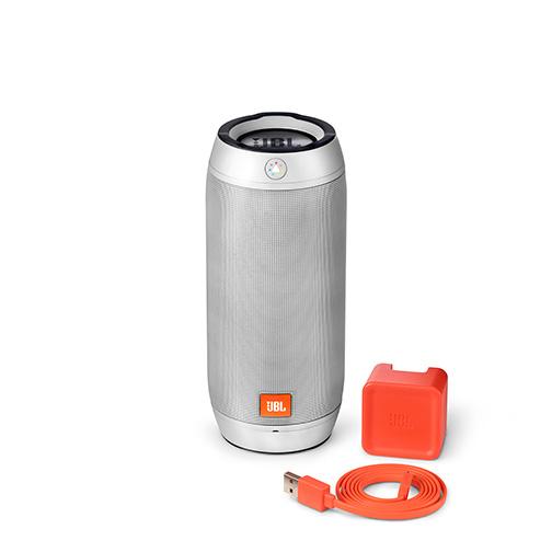 enceinte bluetooth jbl pulse 2 noire orange. Black Bedroom Furniture Sets. Home Design Ideas