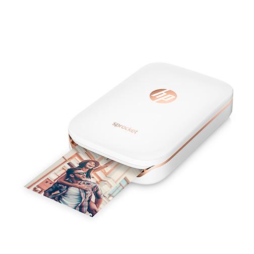 imprimante photo hp sprocket blanc orange. Black Bedroom Furniture Sets. Home Design Ideas