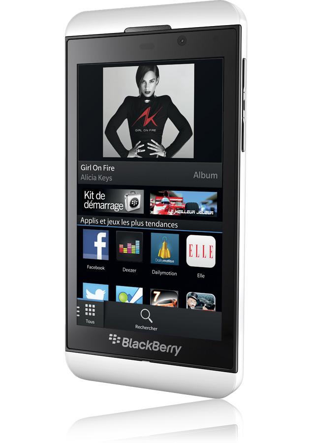 Blackberry z10 blanc nouvel os 10 8 mpxls compatible for Photo ecran blackberry z10