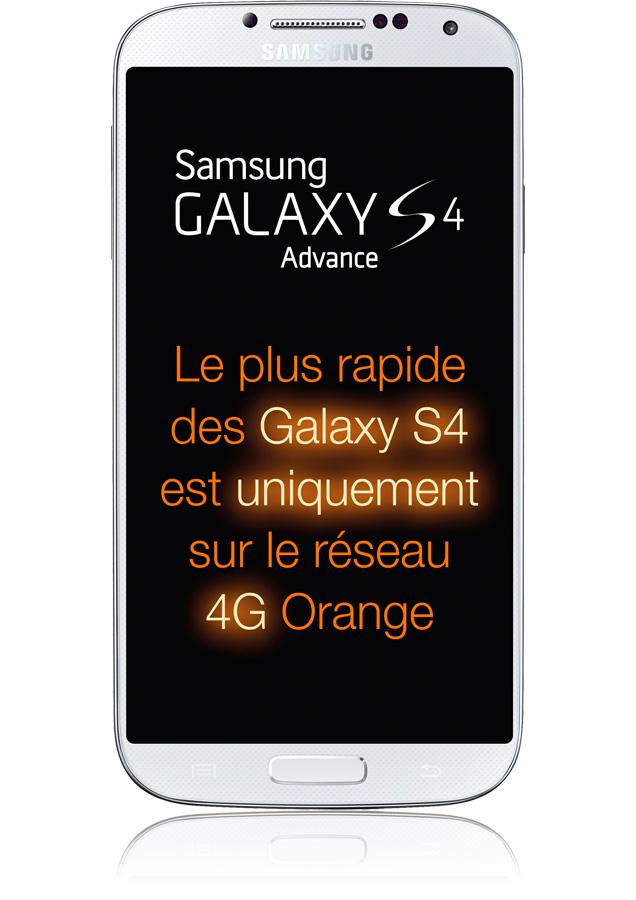 samsung galaxy s4 advance blanc 4g processeur 2 3 ghz orange. Black Bedroom Furniture Sets. Home Design Ideas