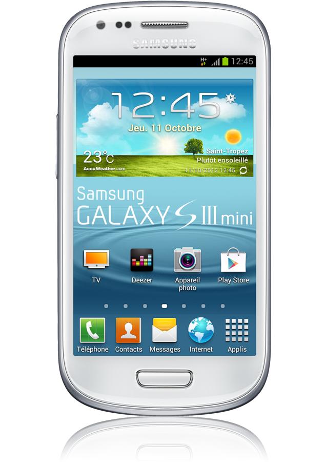 samsung galaxy s3 mini blanc reconditionn android 4 1 cran amoled orange mobile. Black Bedroom Furniture Sets. Home Design Ideas